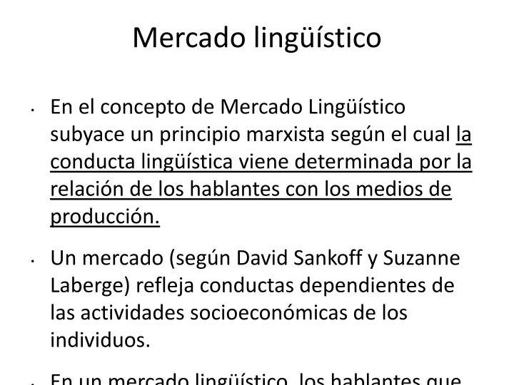 Mercado lingüístico