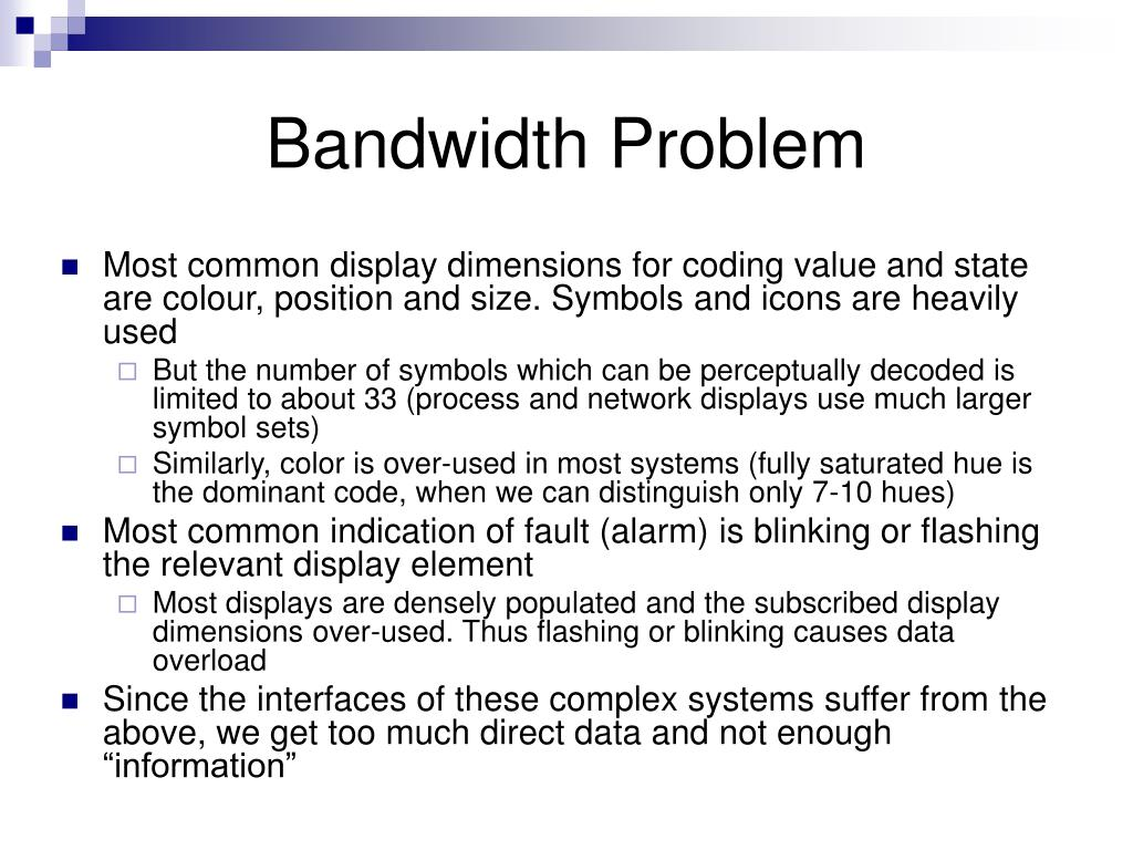 Bandwidth Problem