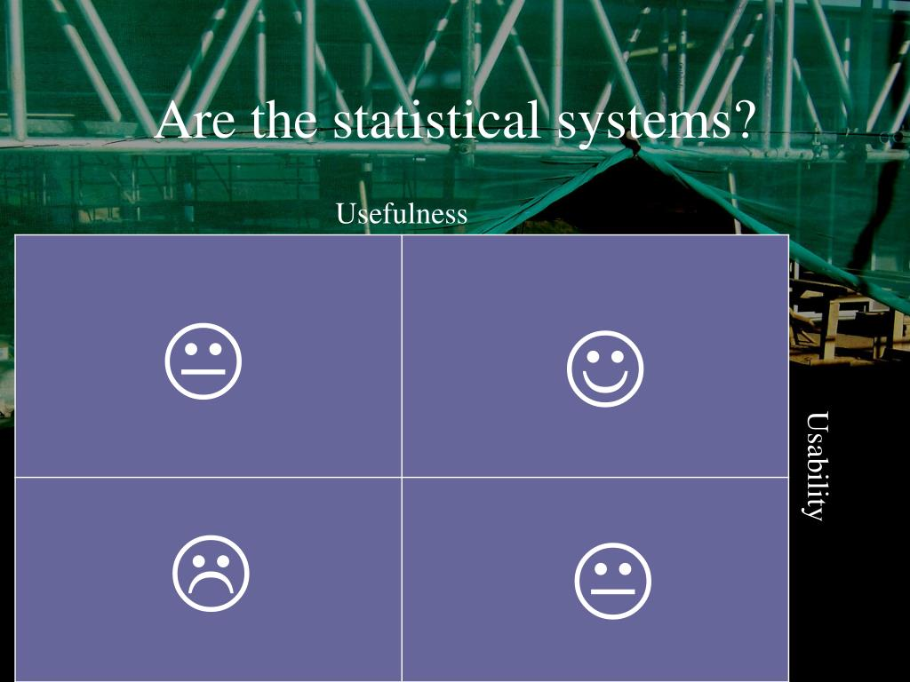 Are the statistical systems?