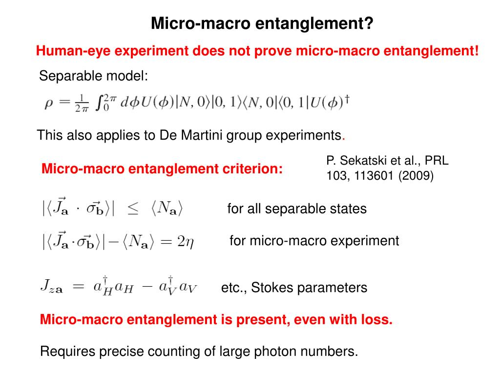 Micro-macro entanglement?