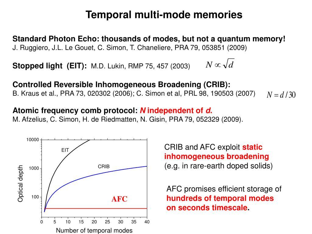 Temporal multi-mode memories