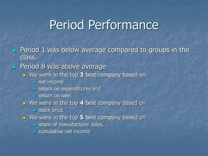 Period Performance