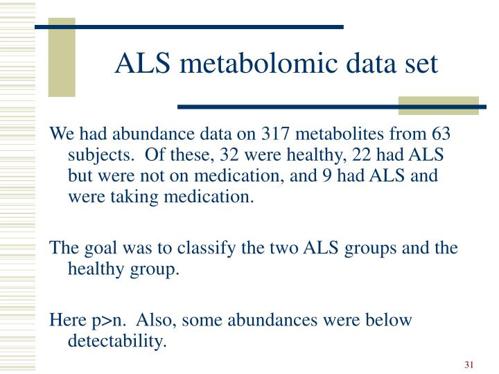 ALS metabolomic data set