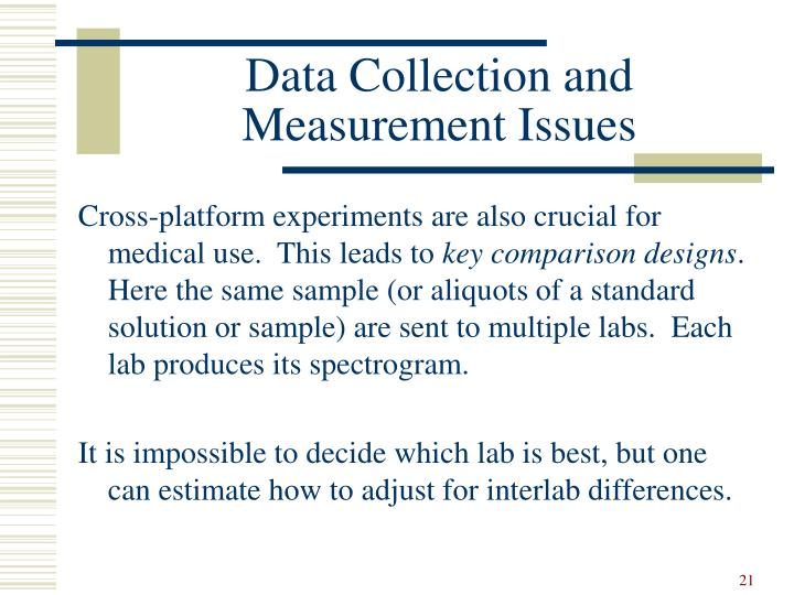 Data Collection and Measurement Issues