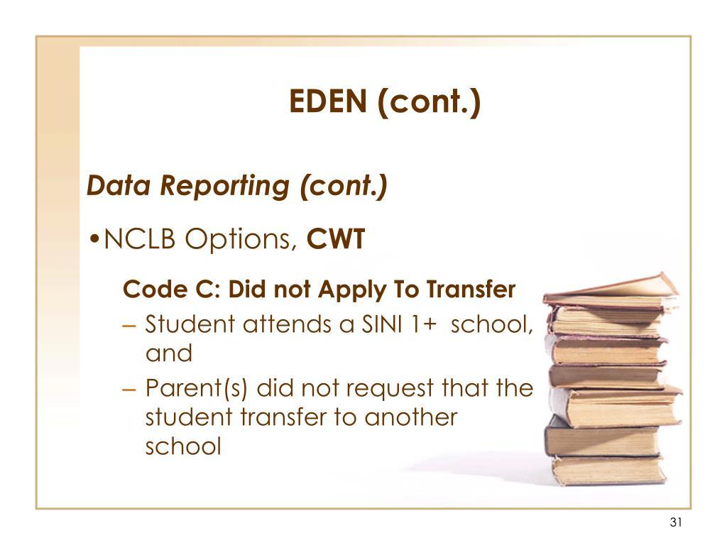 EDEN (cont.)