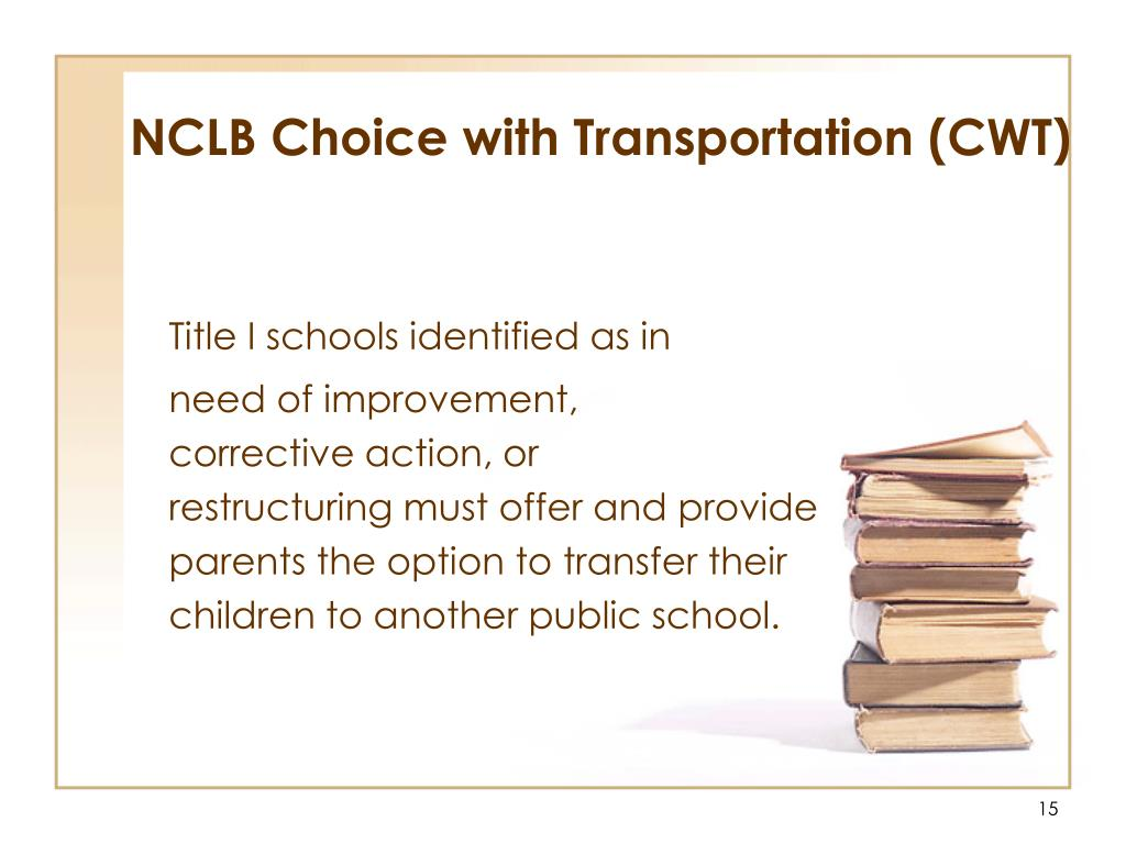 NCLB Choice with Transportation (CWT)