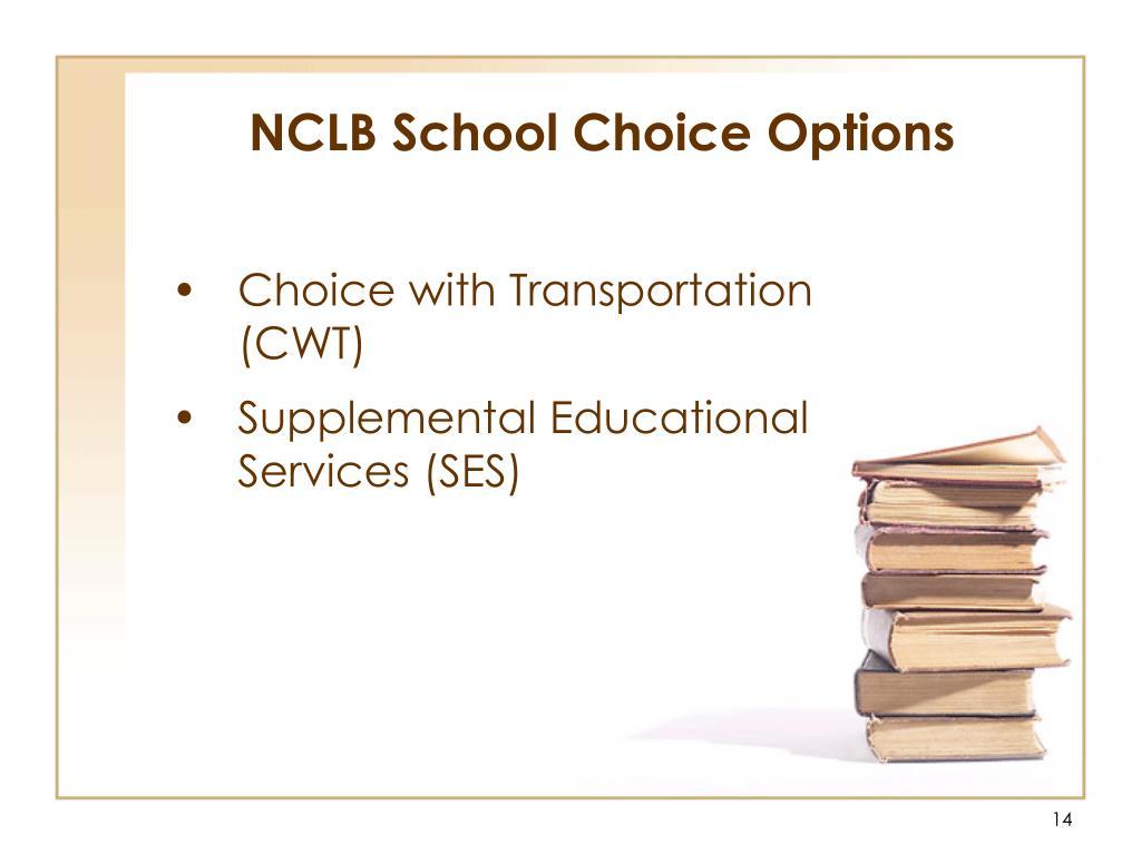 NCLB School Choice Options