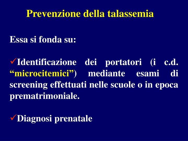Prevenzione della talassemia