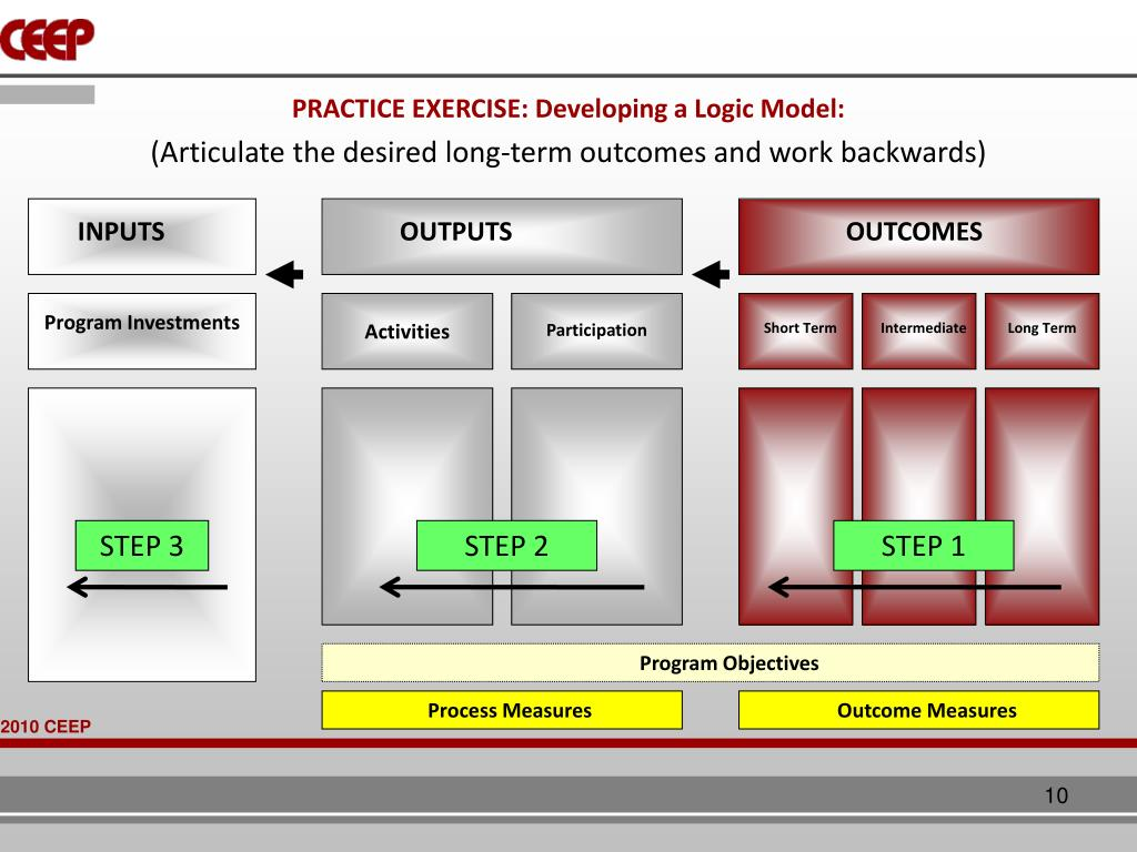 PRACTICE EXERCISE: Developing a Logic Model: