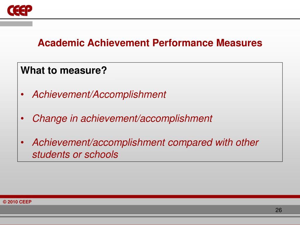 Academic Achievement Performance Measures