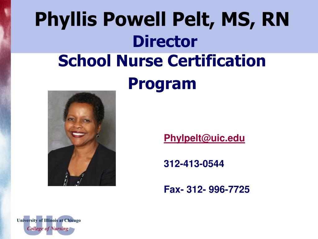 Phyllis Powell Pelt, MS, RN