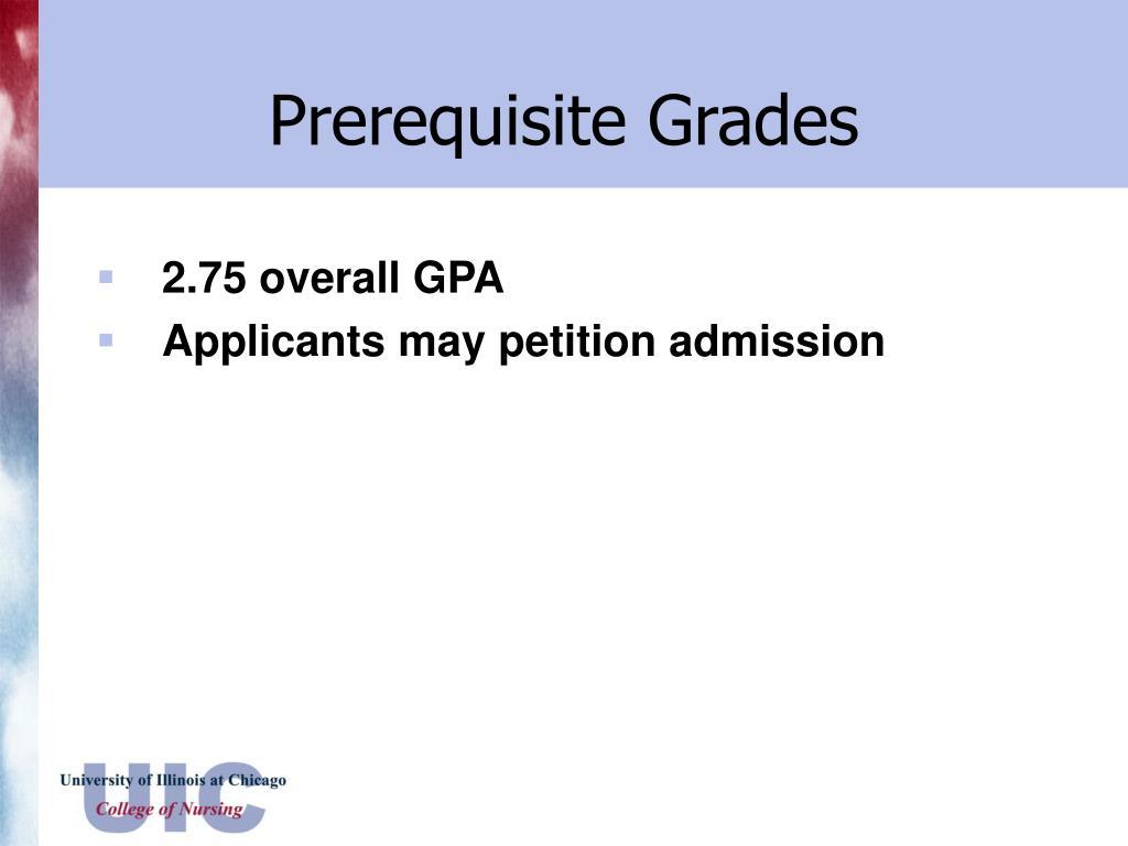 Prerequisite Grades