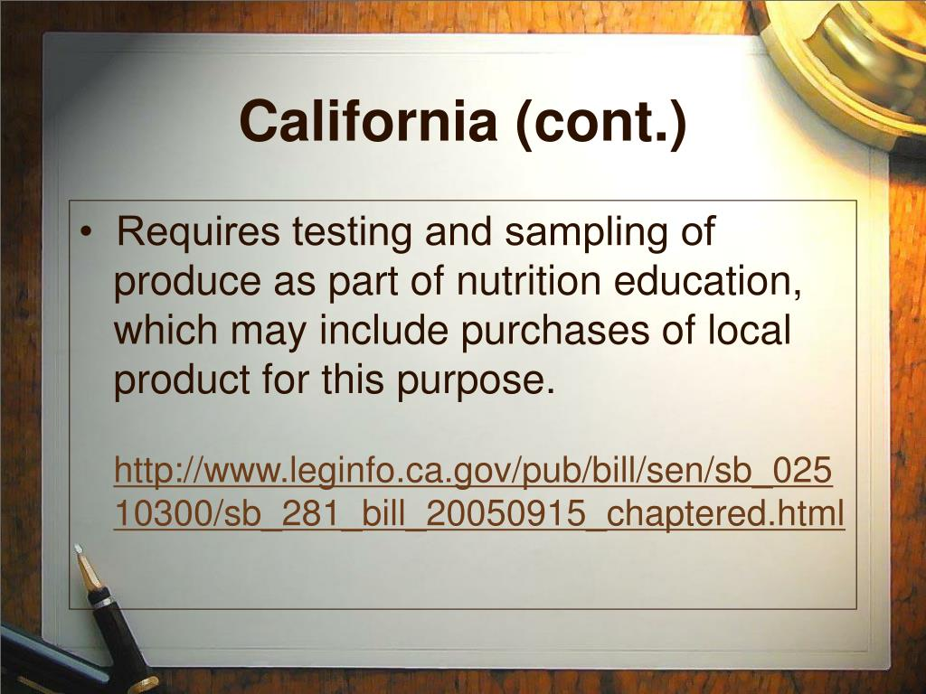 California (cont.)