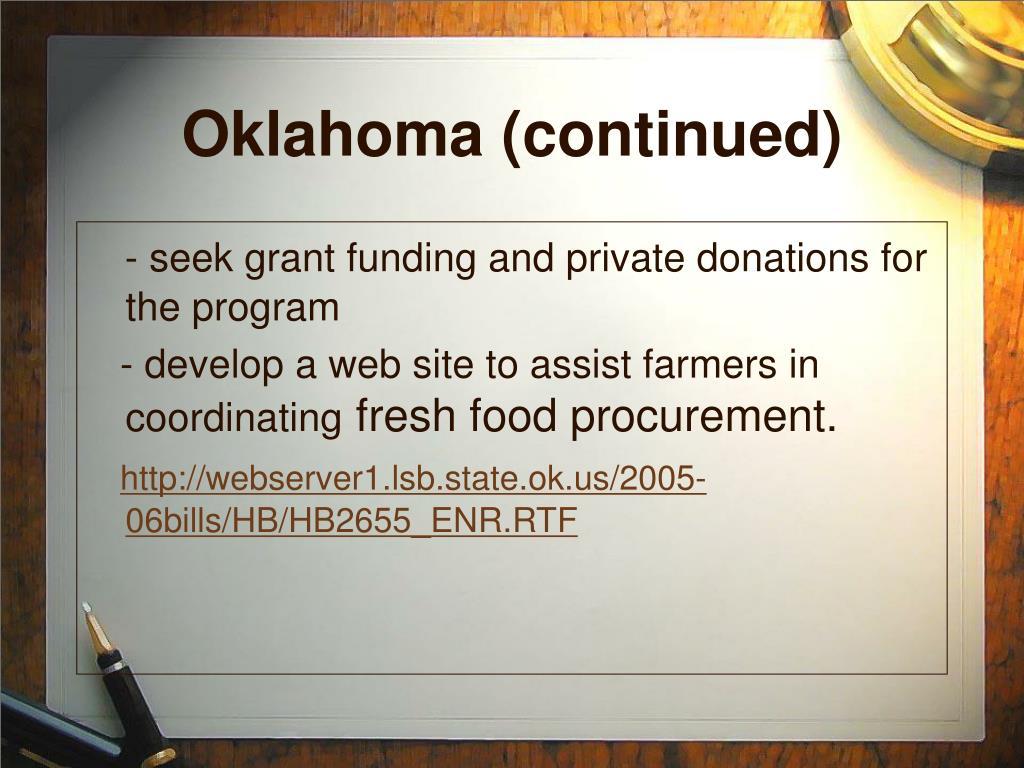 Oklahoma (continued)
