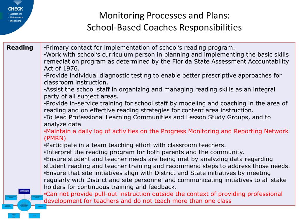 Monitoring Processes and Plans: