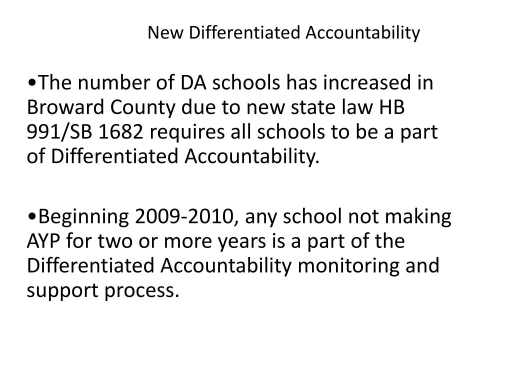 New Differentiated Accountability