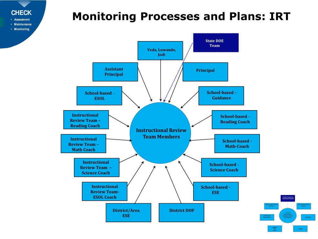 Monitoring Processes and Plans: IRT
