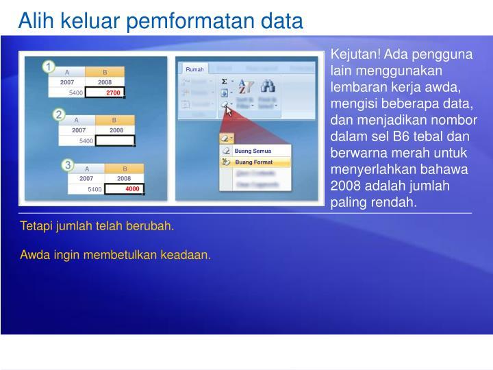 Alih keluar pemformatan data