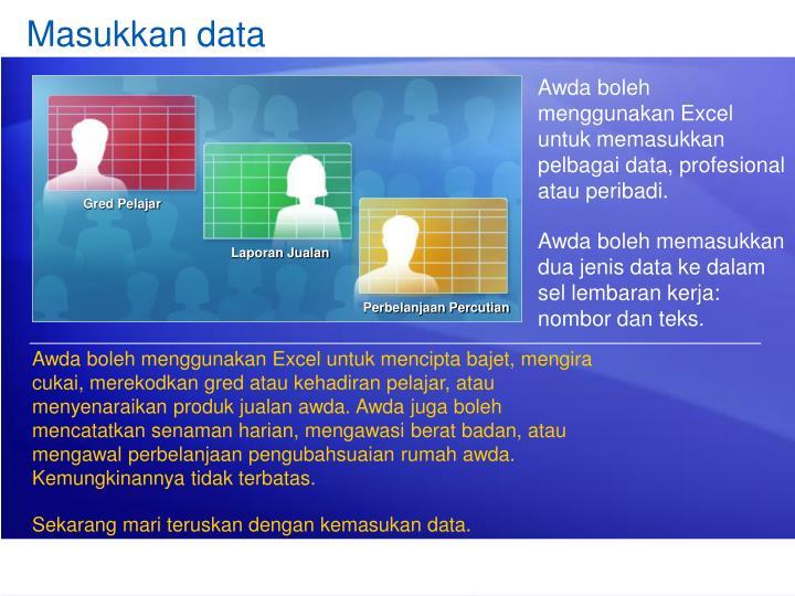 Masukkan data