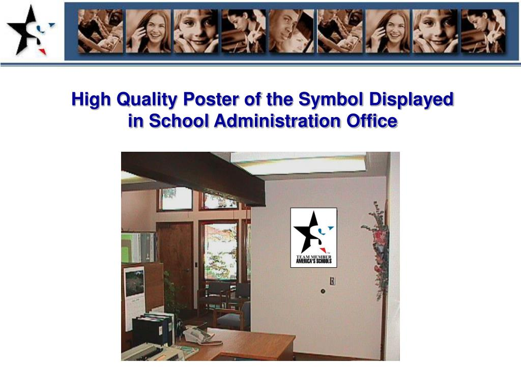 High Quality Poster of the Symbol Displayed in School Administration Office