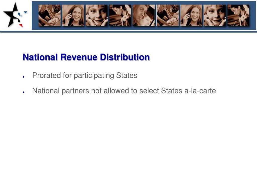National Revenue Distribution
