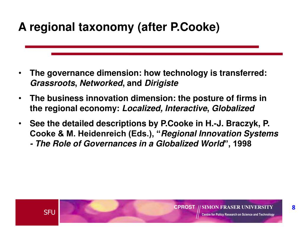A regional taxonomy (after P.Cooke)