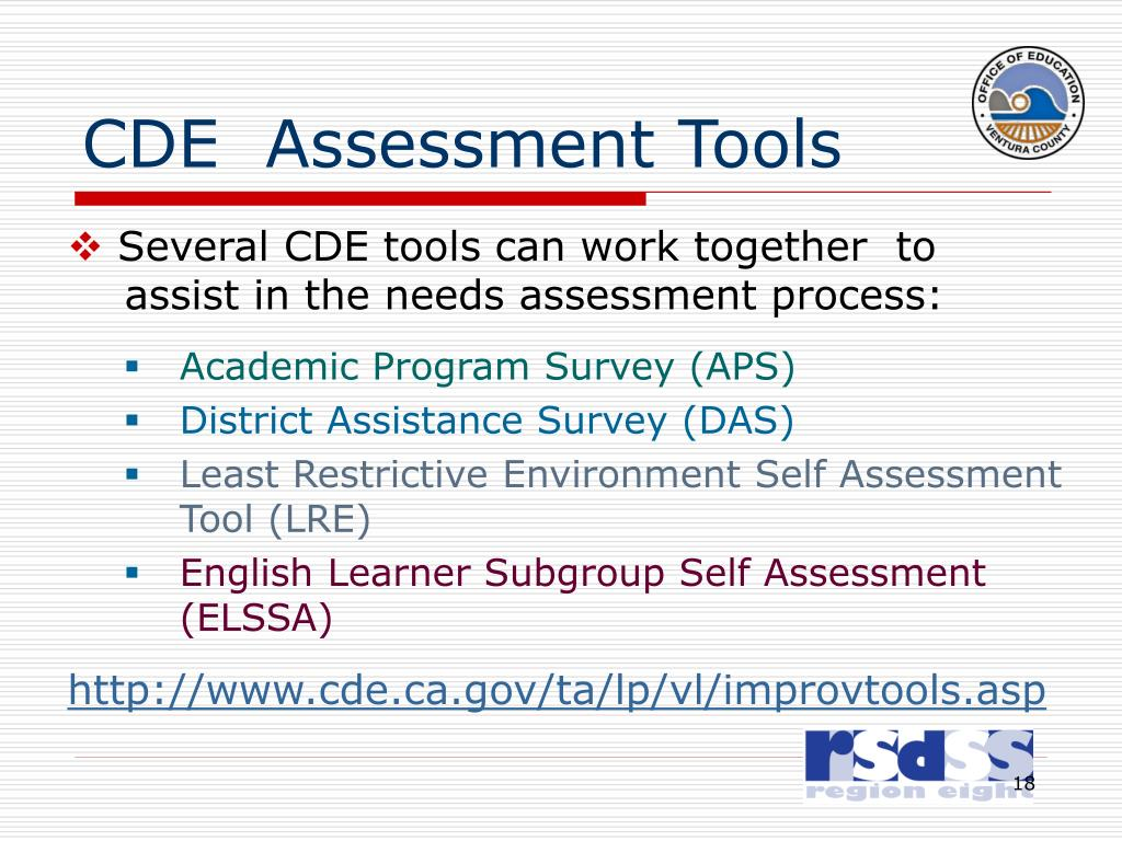 CDE  Assessment Tools