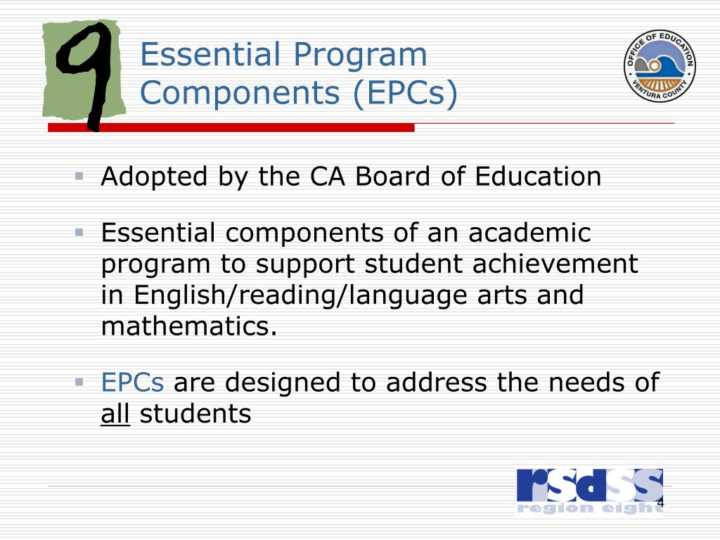 Essential Program Components (EPCs)