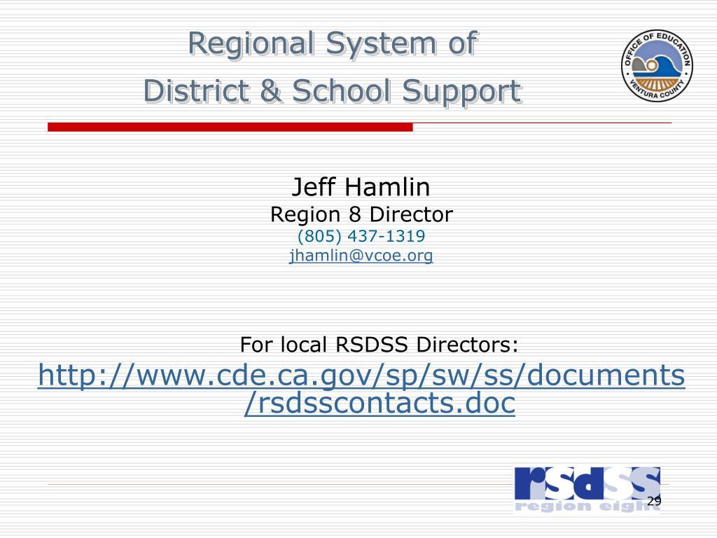 Regional System of