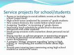 service projects for school students