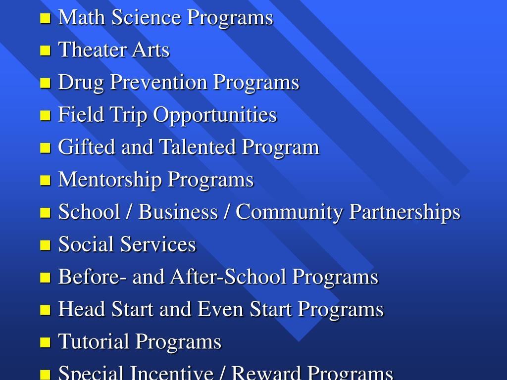 Math Science Programs
