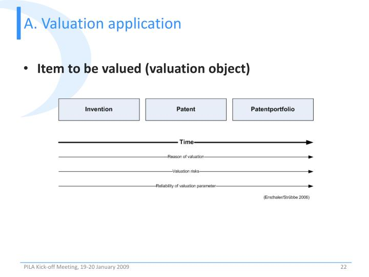 A. Valuation application