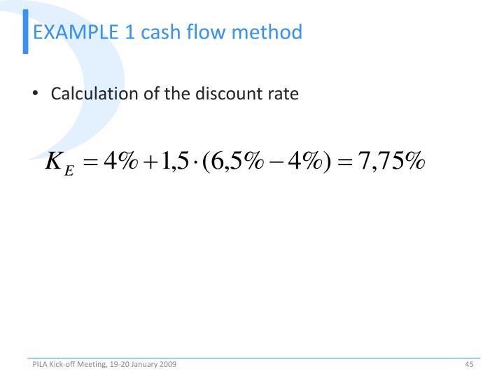 EXAMPLE 1 cash flow method