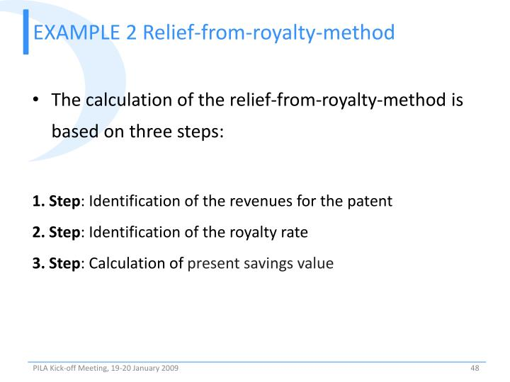 EXAMPLE 2 Relief-from-royalty-method
