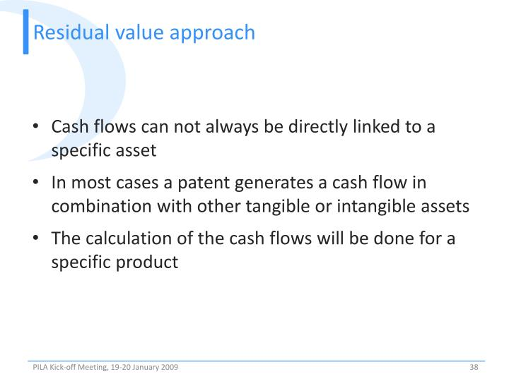 Residual value approach