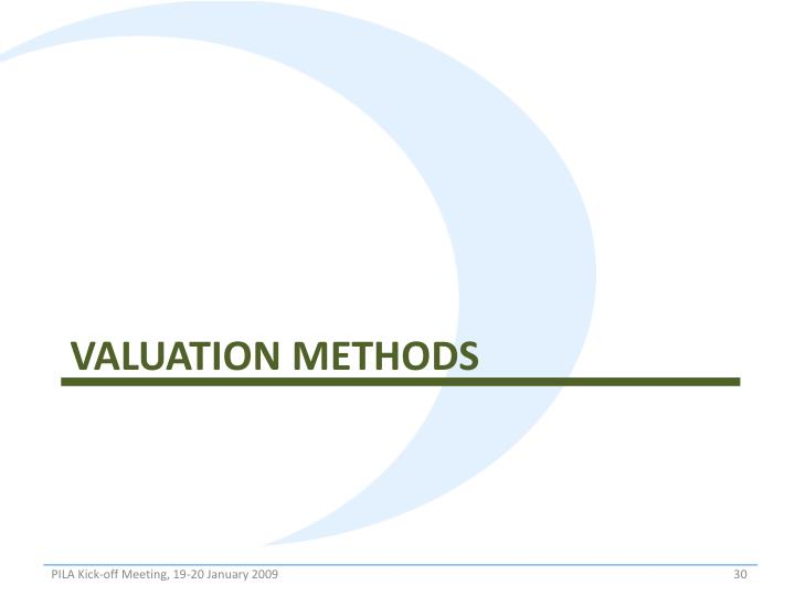 Valuation methods