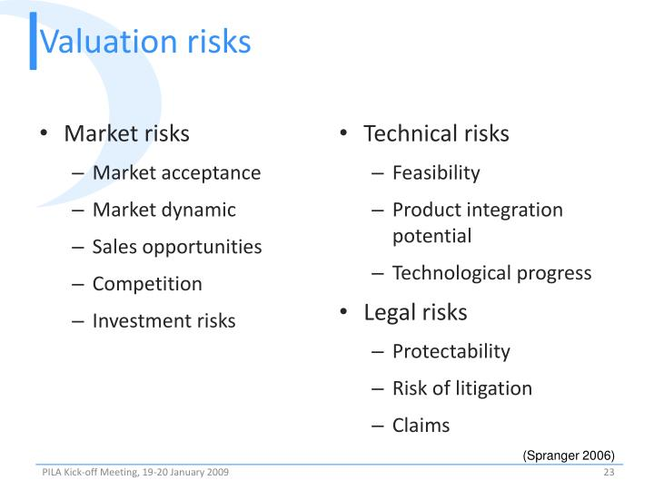 Valuation risks