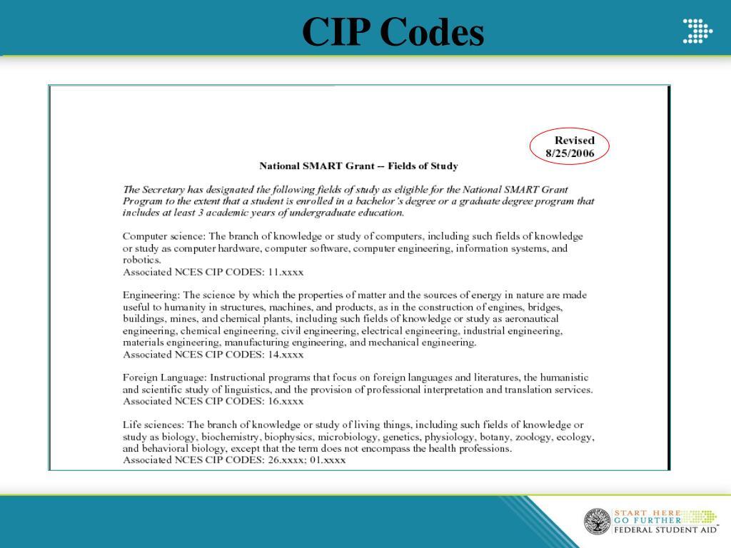 CIP Codes