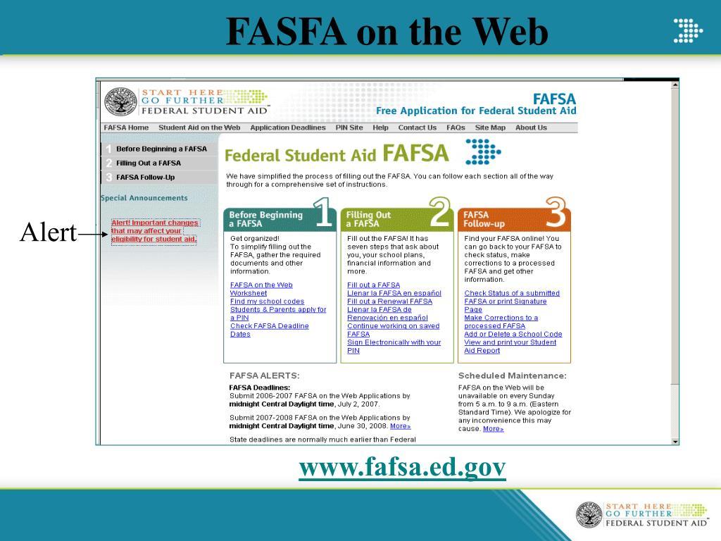 FASFA on the Web