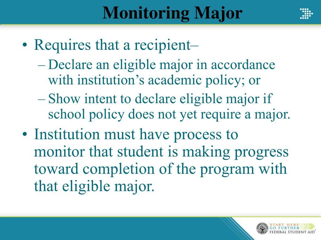 Monitoring Major