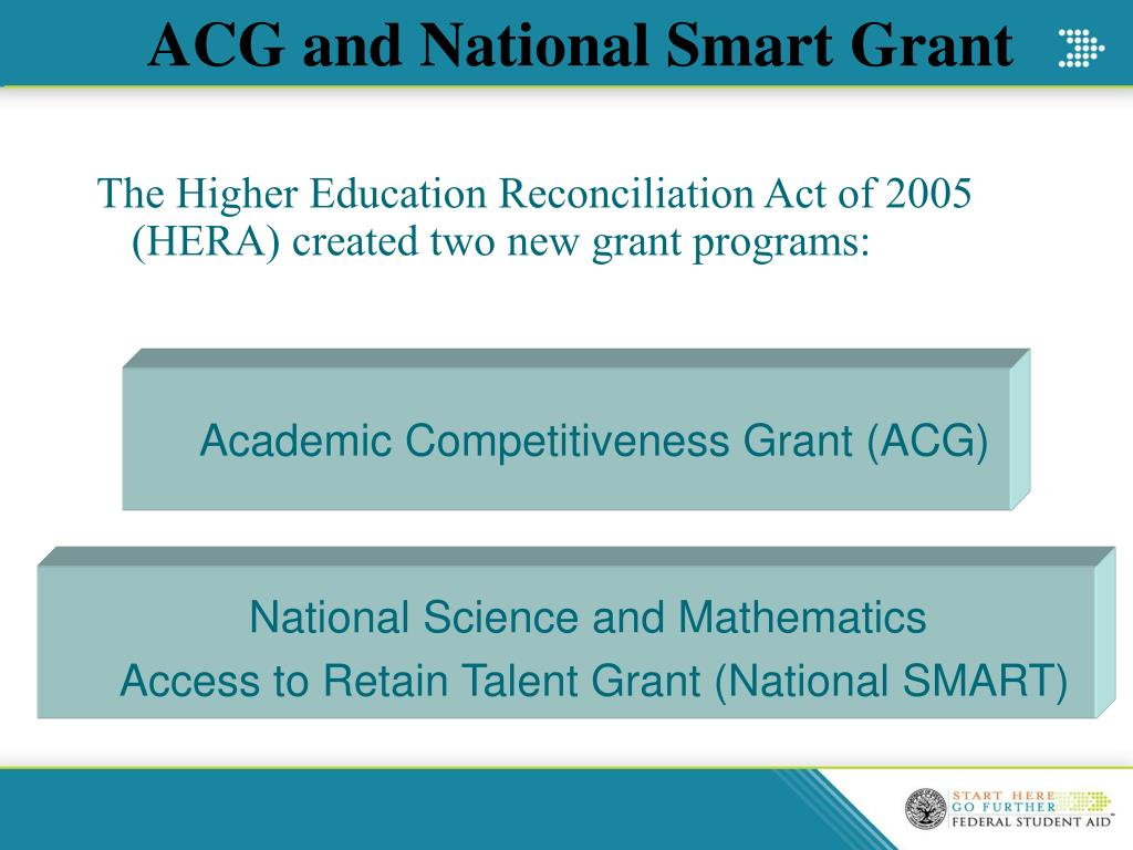 ACG and National Smart Grant