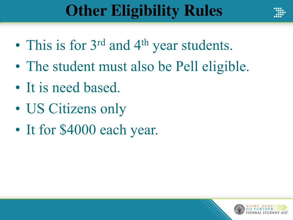 Other Eligibility Rules