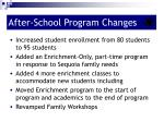 after school program changes