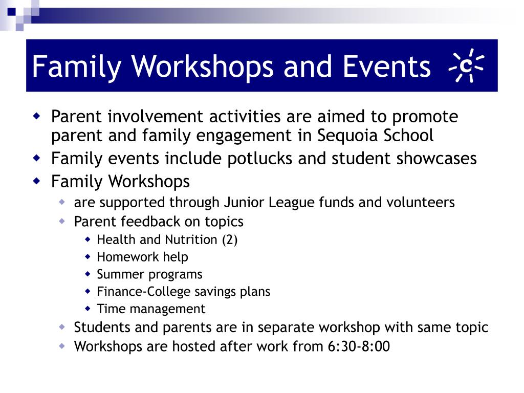 Family Workshops and Events