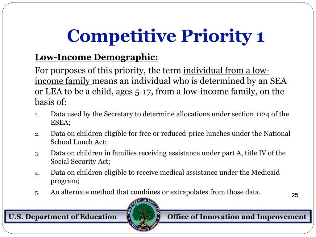 Competitive Priority 1