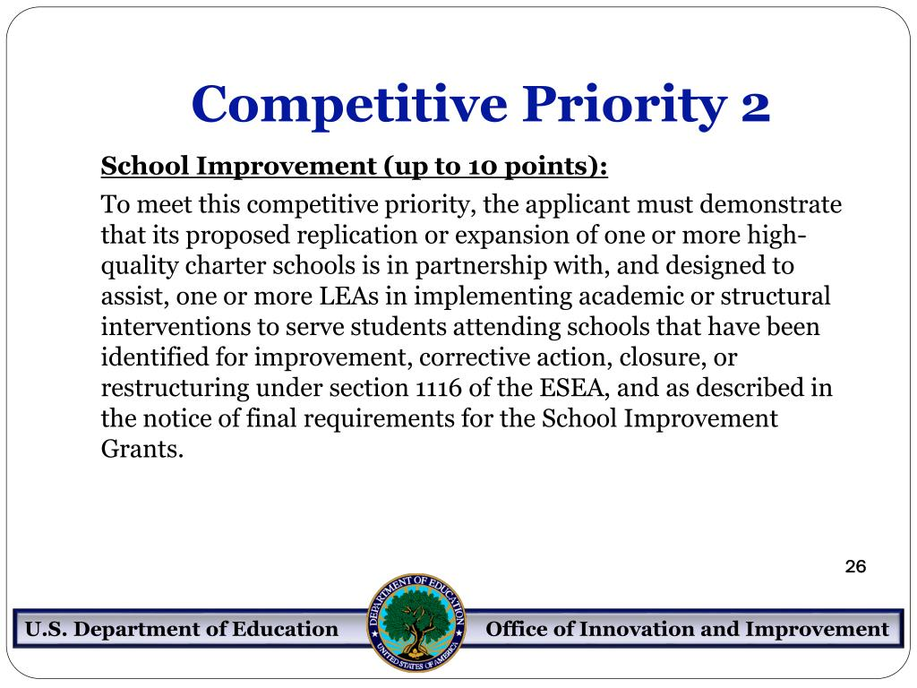 Competitive Priority 2
