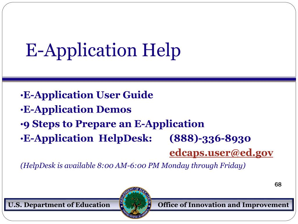 E-Application Help
