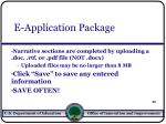 e application package