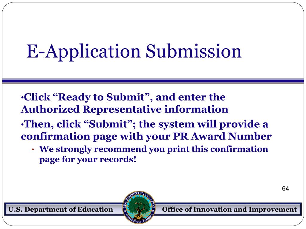 E-Application Submission