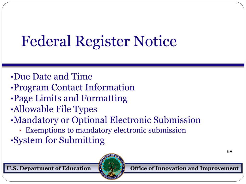 Federal Register Notice